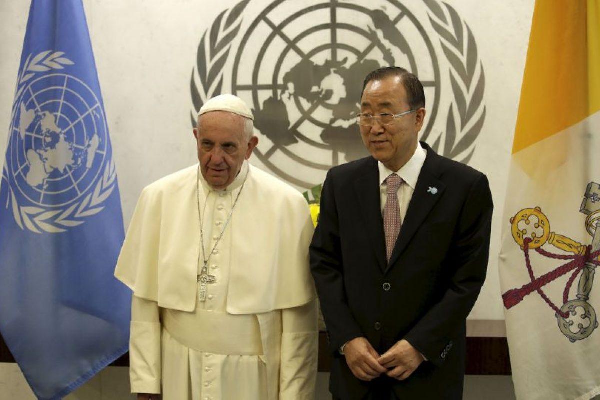 Francisco se reunió con Ban Ki-moon, secretario general de Naciones Unidas Foto:AFP
