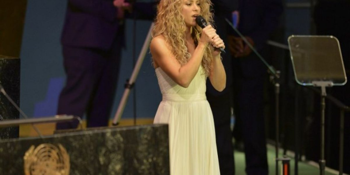 Video. Shakira canta famosa canción de John Lennon en la ONU