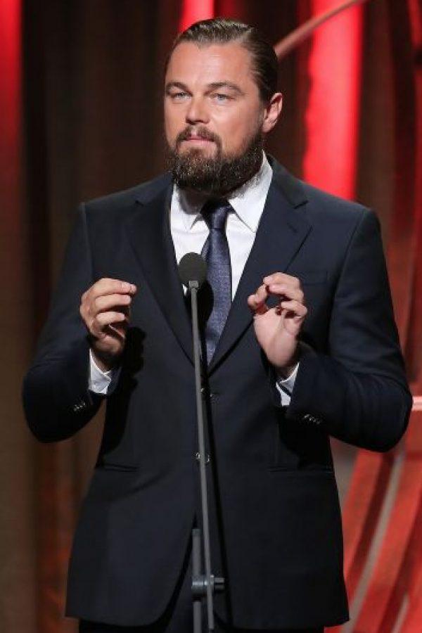 Con el actor Leonardo DiCaprio Foto:Getty Images