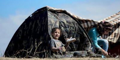 2.8 millones de niños iraquíes obligados a abandonar sus hogares, muchos de los cuales se encuentran atrapados en las zonas controladas por los grupos armados. Foto:Getty Images