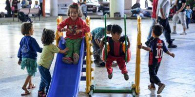 El 80% de los migrantes está huyendo de la guerra de Siria y una cuarta parte del total son niños Foto:Getty Images