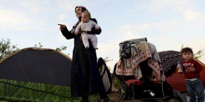 Algunos países, como Macedonia, reciben entre mil y dos mil migrantes al día Foto:Getty Images