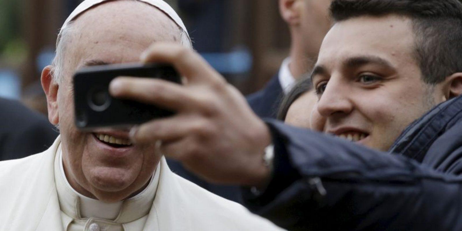 Y también participó en las selfies Foto:AP