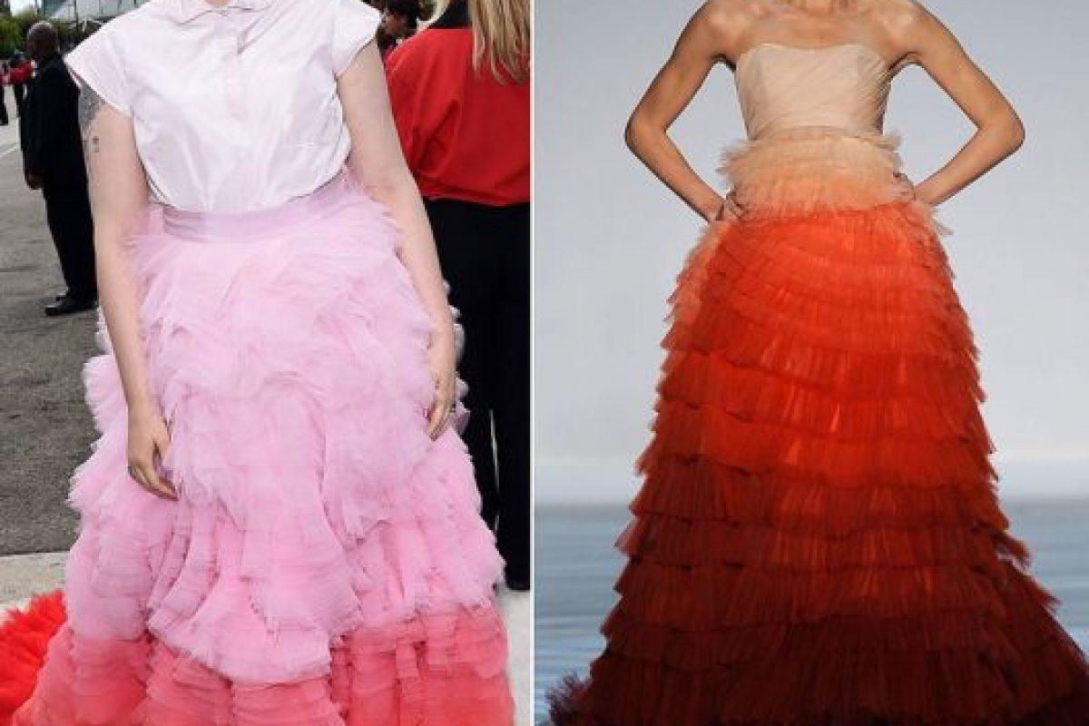 Lena Dunham. Foto:vía Tumblr/runway to carpet