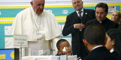 En la escuela Nuestra Señora Reina de los Ángeles Foto:AP