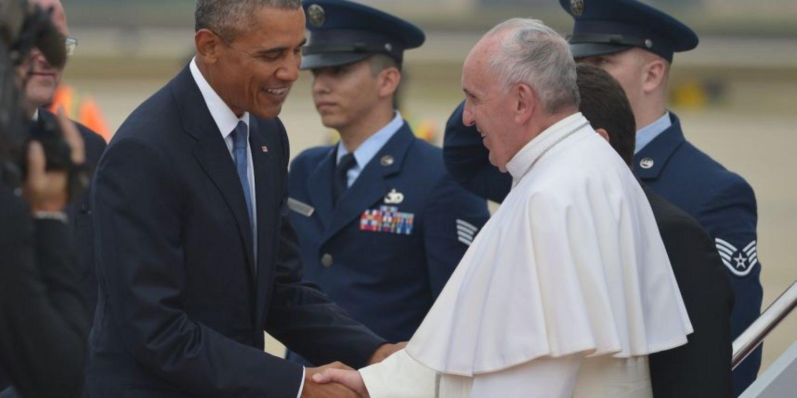 Fue recibido por el presidente Barack Obama y su familia. Foto:AFP