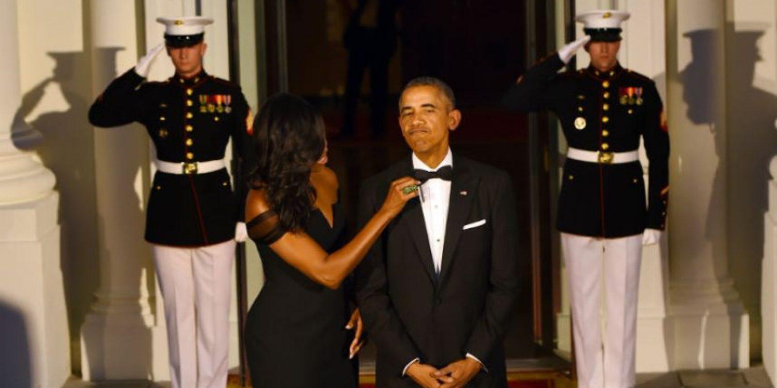 Parecía que ambos se preparaban para ir al baile de graduación. Foto:AFP