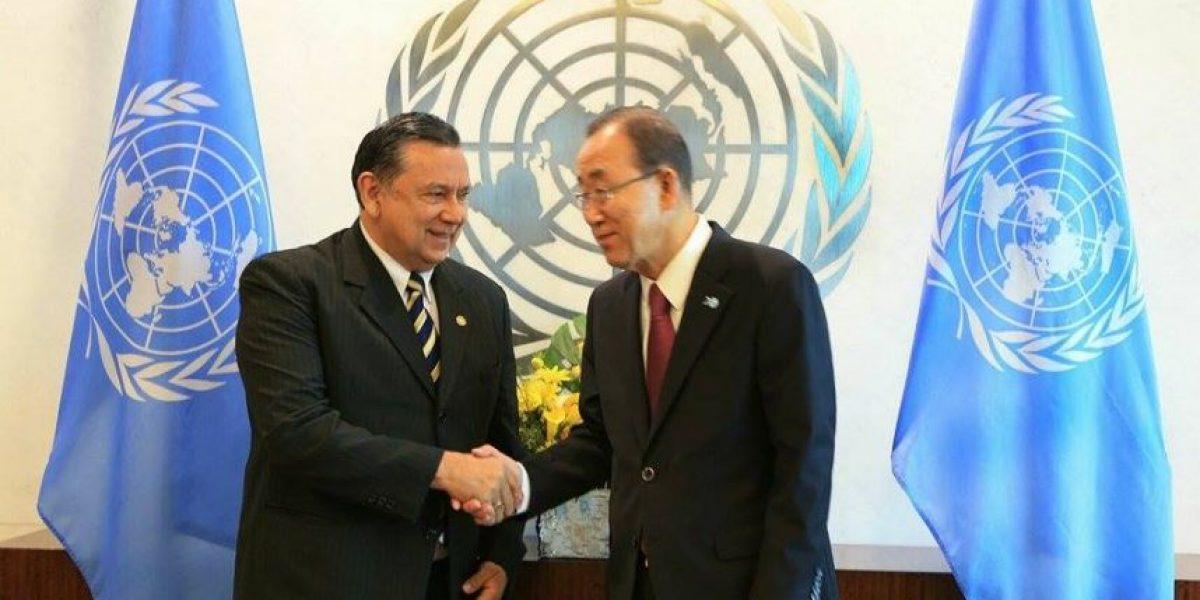 Vicepresidente se reúne con Ban Ki-moon para conversar sobre la realidad nacional