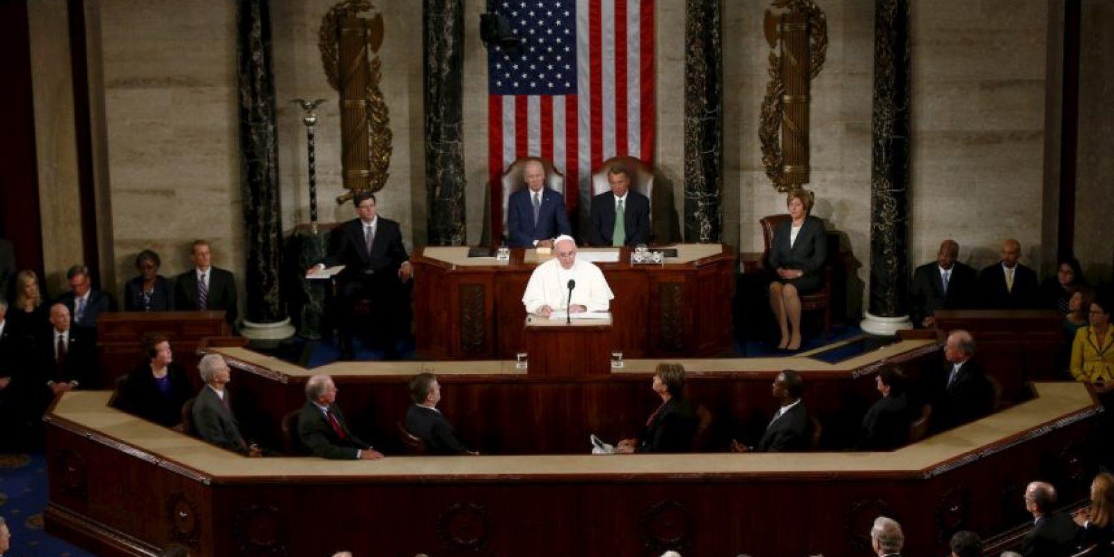 Fue el primer Papa en hablar frente al Congreso estadounidense. Foto:AP
