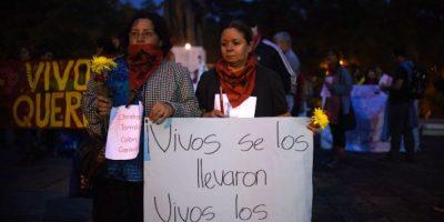 Activistas guatemaltecos exigen aparición de estudiantes mexicanos desaparecidos