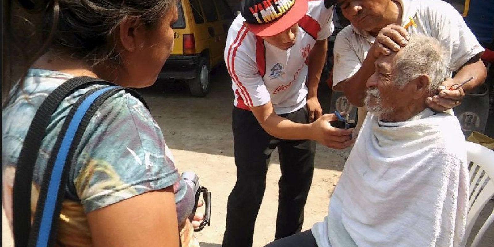 Miembros de la Iglesia Evangélica Peregrina decidieron ayudarlo. Foto:Vía facebook.com/municipalidaddeferrenafe