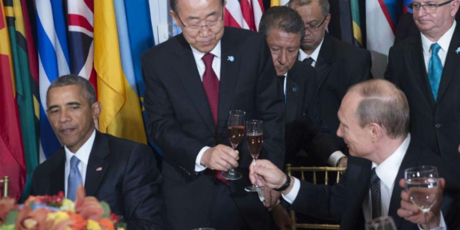 Putin se mostró muy sonriente Foto:AFP