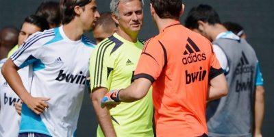 El portero español y el entrenador portugués se reencontrarán en el duelo por la Champions. Foto:AFP