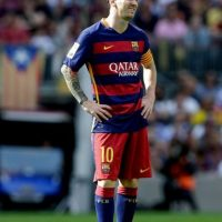 El Barcelona comunicó que el tiempo calculado de recuperación de Lionel Messi es de siete u ocho semanas. Foto:Getty Images