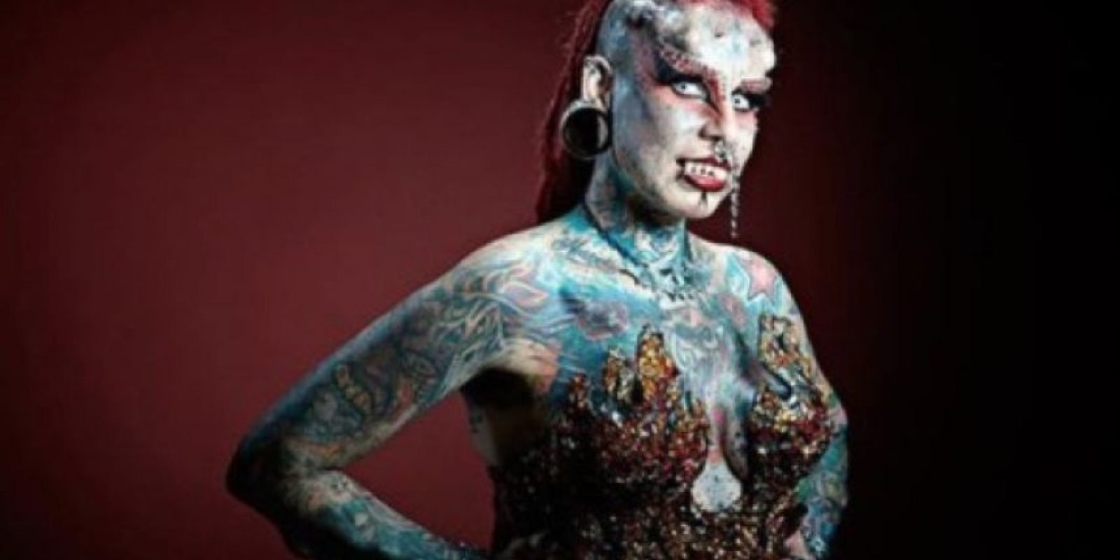 """5. María José Cristerna, mejor conocida como """"La Mujer Vampiro"""". Foto:Sploid"""