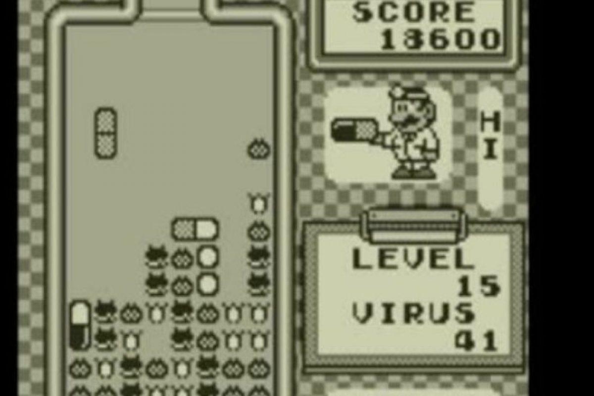 """Dr. Mario (1991). Como """"Tetris"""" pero ordenando píldoras. Foto:vía Nintendo"""