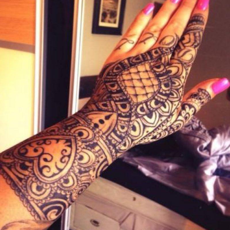 Y este fue el tatuaje que le impidió obtener su trabajo. Foto:Vía Facebook