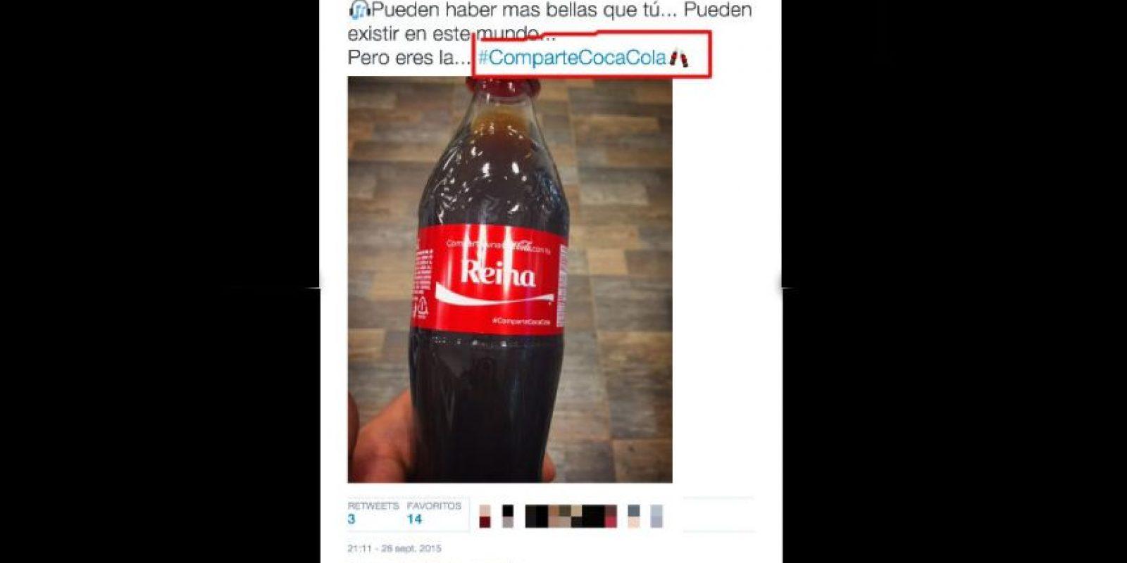 Así luce el nuevo emoticon exclusivo de Coca-Cola en Twitter Foto:Twitter