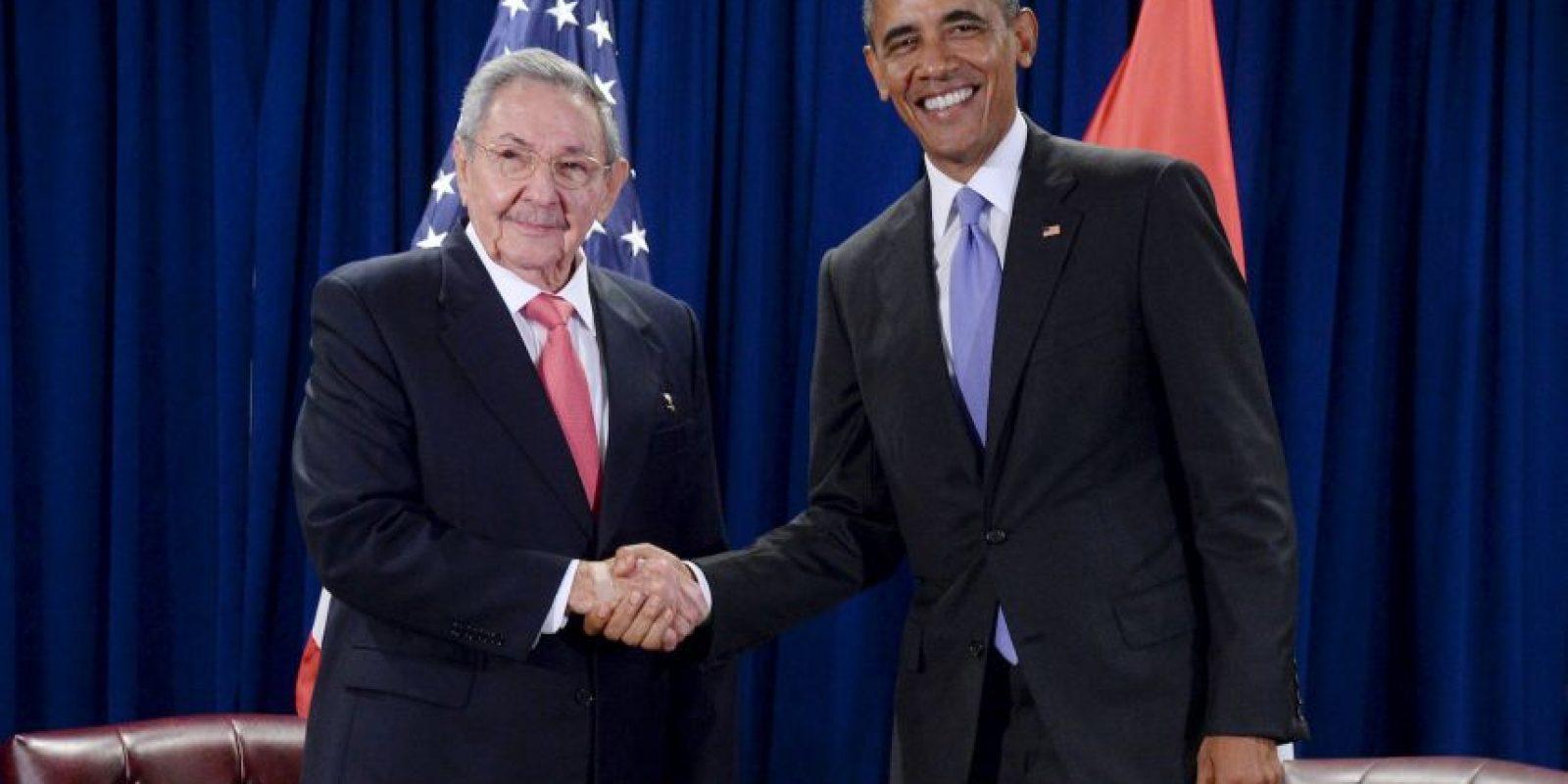 Otro presidente de América Latina que tuvo actividad este día fue Raúl Castro, quien se reunió con Barack Obama en un histórico encuentro. Foto:Getty Images