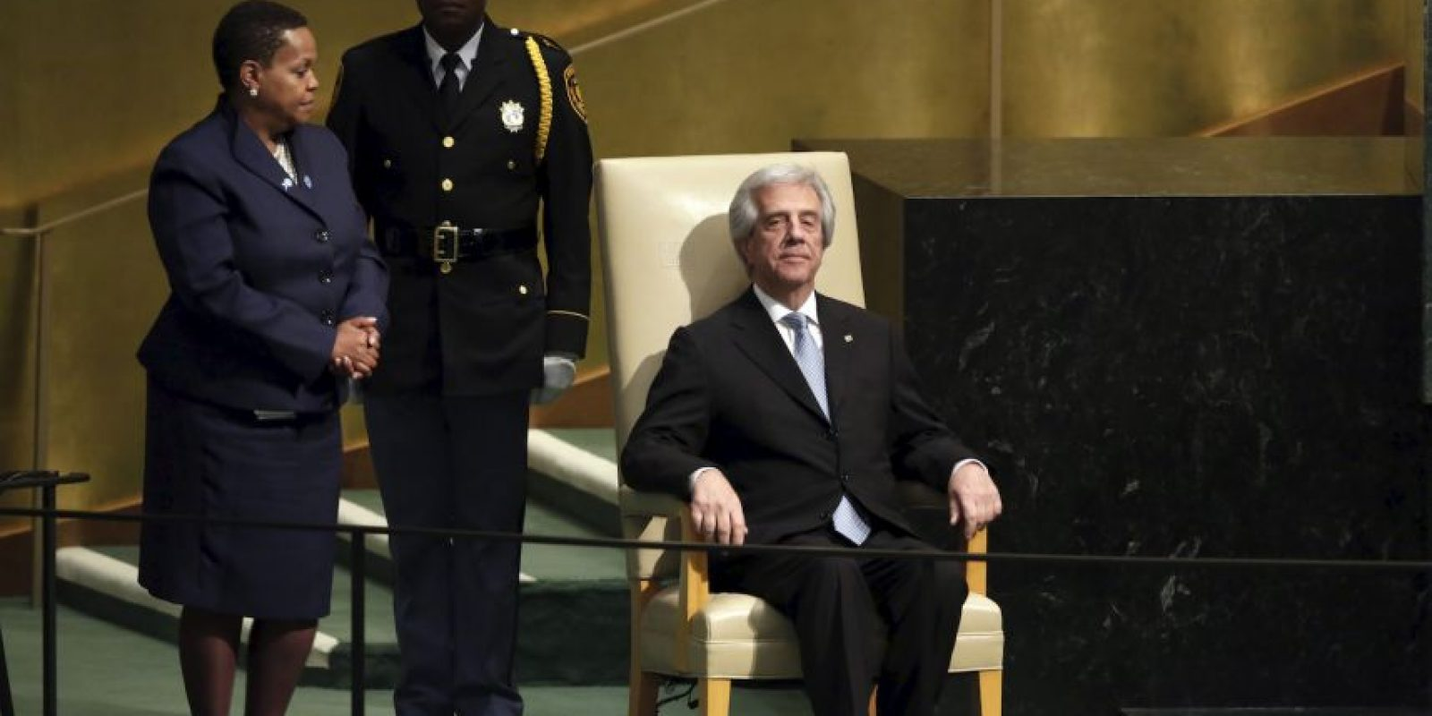 Tabaré Vázquez, presidente de Uruguay Foto:AP