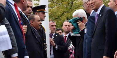 La ceremonia se realizó después de las 13 horas tiempo local, asistió el secretario general de la ONU, Ban Ki-moon Foto:AFP