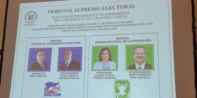 Así queda la papeleta electoral en la segunda vuelta