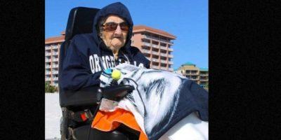 Esta anciana de 100 años vio el mar por primera vez Foto:Perdido Beach Resort