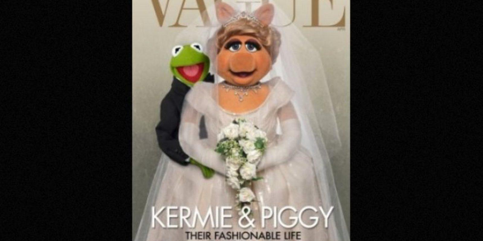 """Miss Piggy"" y la rana ""René"" Foto:Facebook/MuppetsMissPiggy"