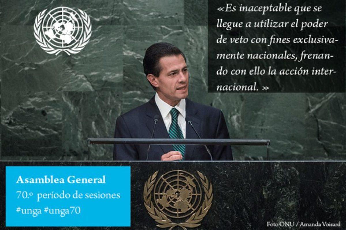 Enrique Peña Nieto, presidente de México Foto:Twitter.com/ONU_es