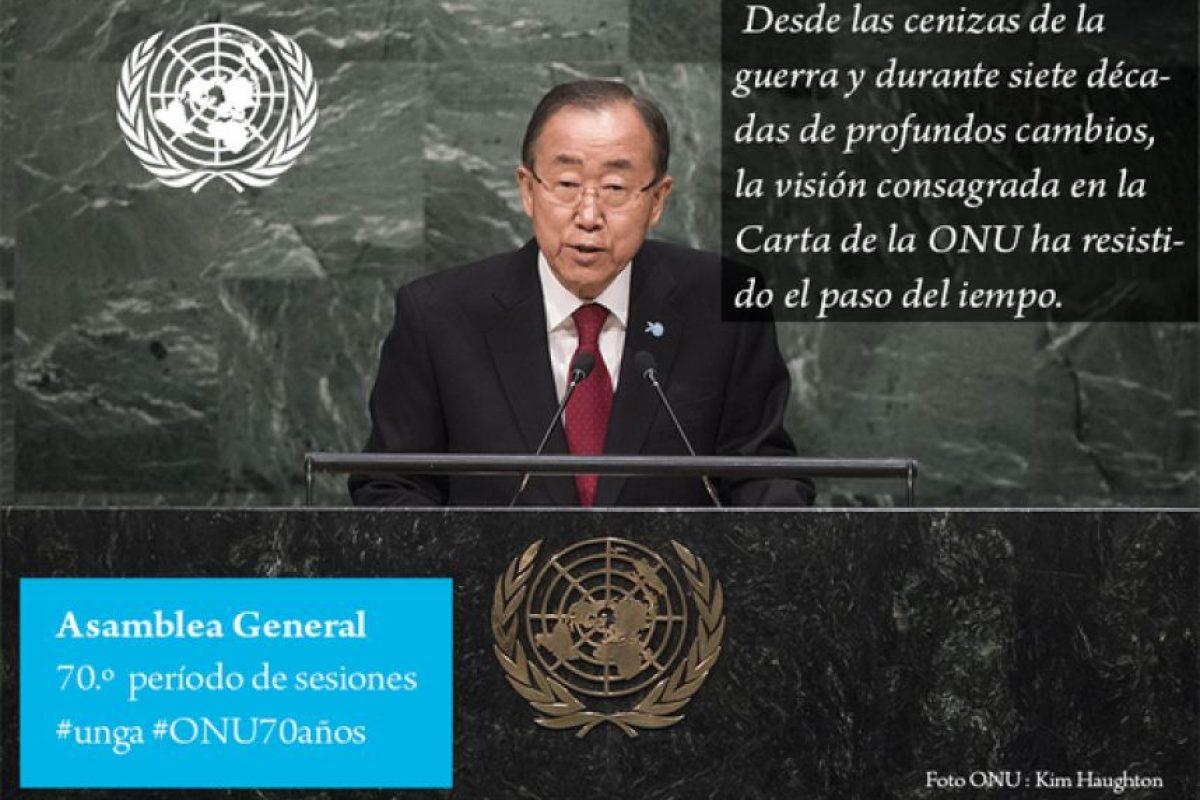 Ban Ki-moon, secretario general de las Naciones Unidas Foto:Twitter.com/ONU_es