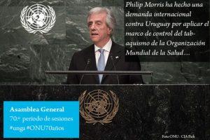 Tabare Vázquez, presidente de Uruguay Foto:Twitter.com/ONU_es