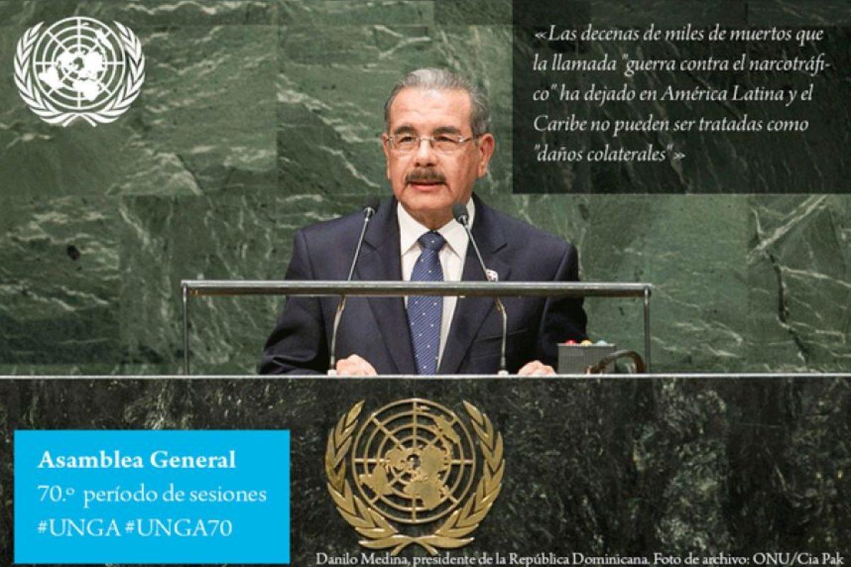 Danilo Medina, presidente de República Dominicana Foto:Twitter.com/ONU_es