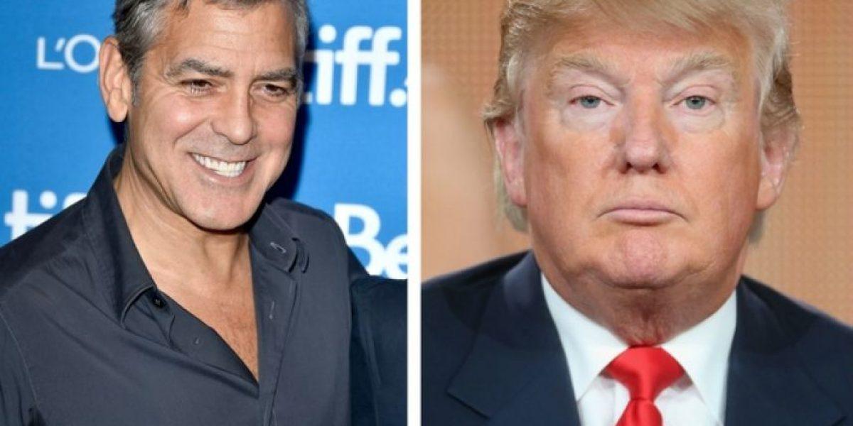 De esta manera y con humor, George Clooney se burló de Donald Trump
