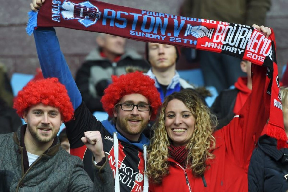 En tanto, los hinchas del Bournemouth fueron los más guapos según esta encuesta. Foto:Getty Images