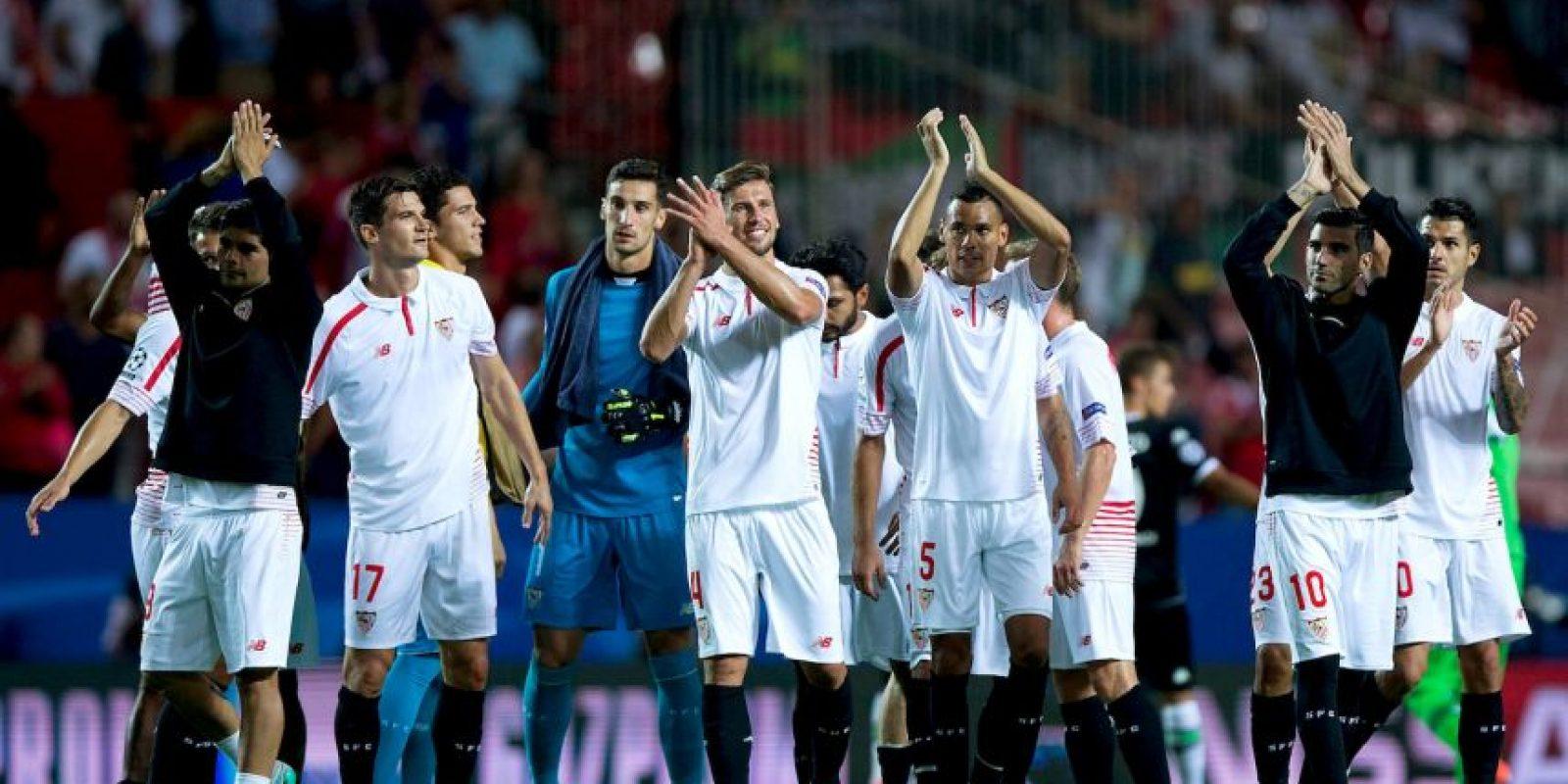 Los andaluces debutaron en Europa con una goleada de 3-0 sobre el Borussia Monchengladbach. Foto:Getty Images
