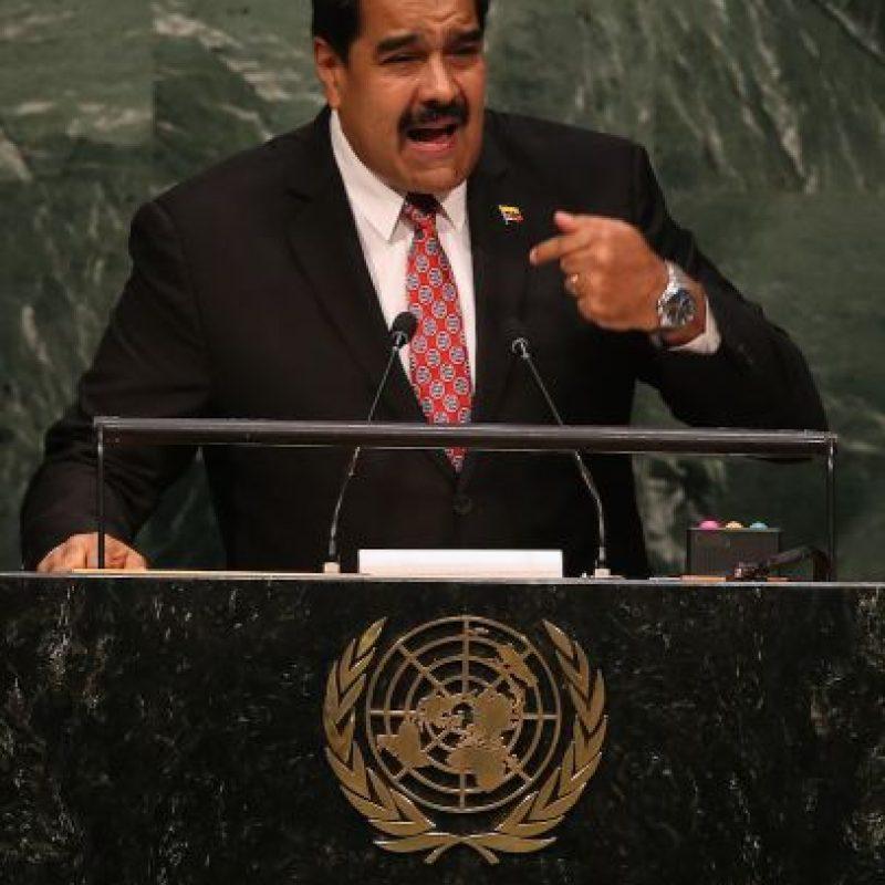 El presidente de Venezuela, Nicolás Maduro durante su discurso. Foto:Getty Images