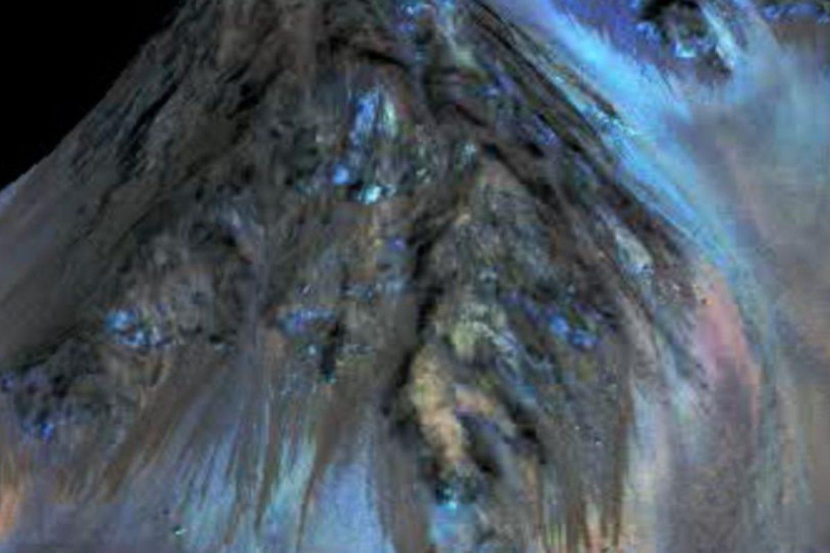 Y fue hasta hace poco que la NASA comprobó que había rasgos de agua líquida en el planeta. Foto:Vía nasa.gov