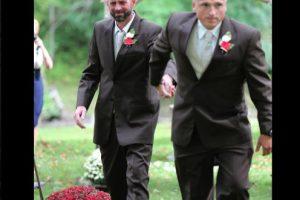 Todd Bachman (derecha) dejó atrás las diferencias con Todd Cendrosky (izquierda) Foto:Vía facebook.com/DeliaDBlackburnPhotography
