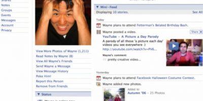 2006. La plataforma ya no recuerda a los usuarios que ese es su perfil. Foto:Facebook
