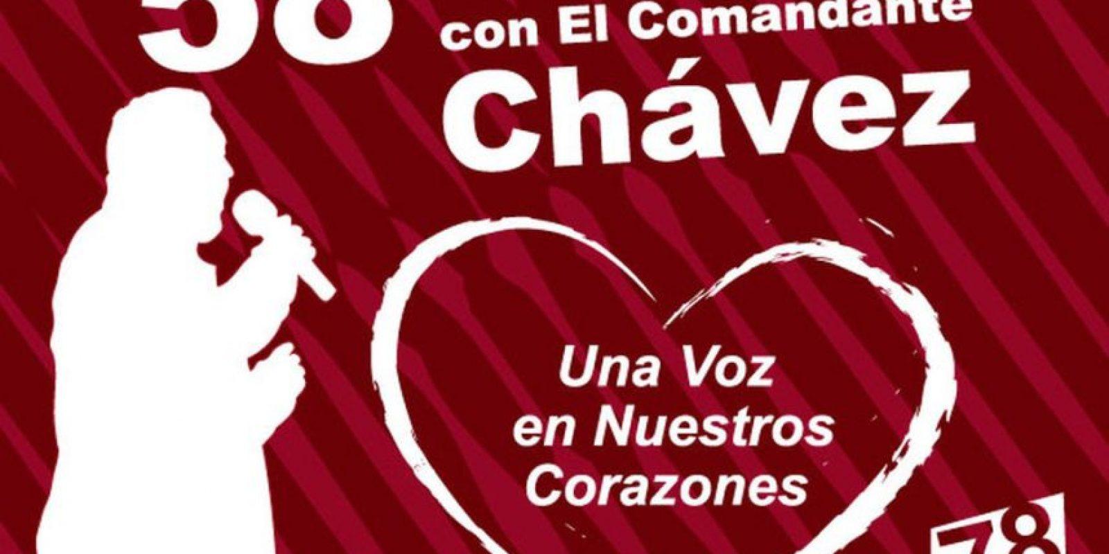 """Contenía 58 temas, algunos como """"El corrido de la caballería"""", cantado por el mismo Chávez. Foto:psuv.org.ve"""