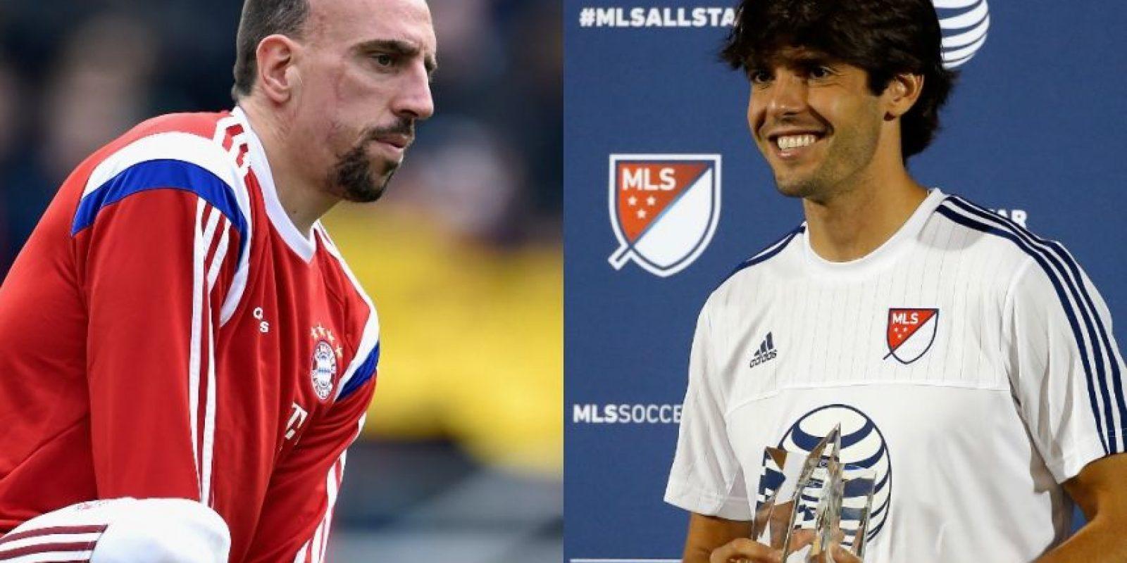 """Franck Ribery y Kaká – Kaká siempre ha tenido una cara de """"niño"""" por eso es difícil creer que tenga 32 años, la edad de Ribery. Foto:Getty Images"""