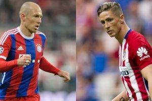 """Arjen Robben y Fernando Torres – El apodo de Fernando Torres es el """"Niño"""", aunque ya tenga 30 años. Eso sí, el español se ve más joven que Robben, de la misma edad. Foto:Getty Images"""