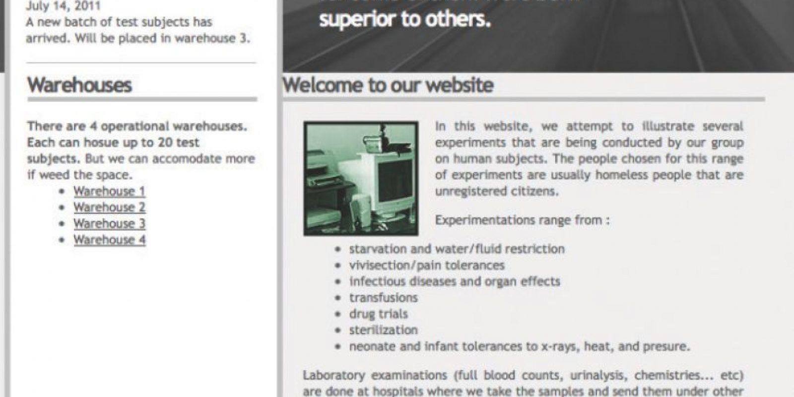 3. Experimentos humanos, principalmente con vagabundos Foto:Wikicommons
