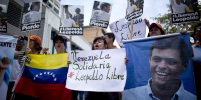 El 18 de febrero de 2014, el líder opositos de Venezuela, Leopoldo López se entrego a las autoridades. Foto:AP