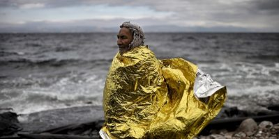Refugiados y migrantes en la isla griega Lesbos. Foto:AFP