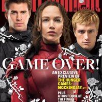 """""""Gale Hawthorne"""", """"Katniss Everdeen"""" y """"Peeta Melllark"""" Foto:""""Entertainment Weekly"""""""