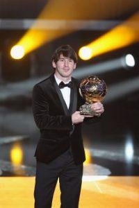 2010: Lionel Messi (A partir de este año se llama Balón de Oro de la FIFA) Foto:Getty Images