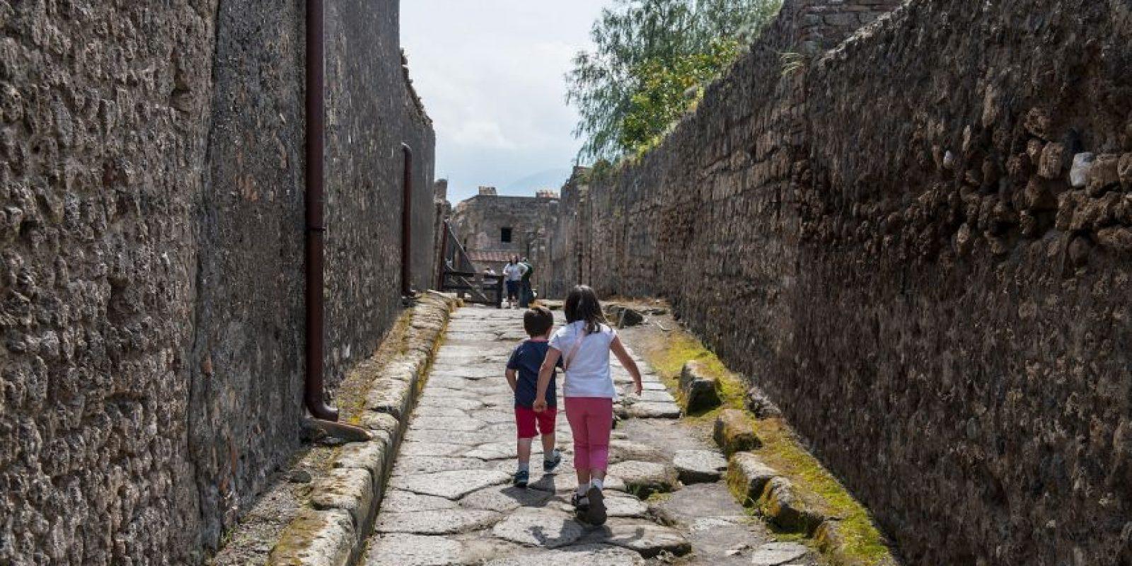 Fue enterrada por la violenta erupción del Vesubio el 24 de agosto del año 79 d. C. Foto:Getty Images
