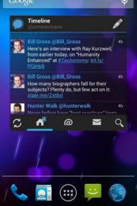 Tiene un widget para Android Foto:Echofon