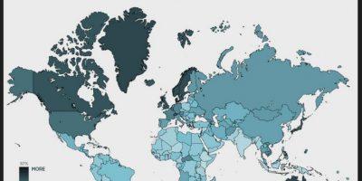 Intensidad de tráfico de los usuarios de iOS. Foto:Porhub